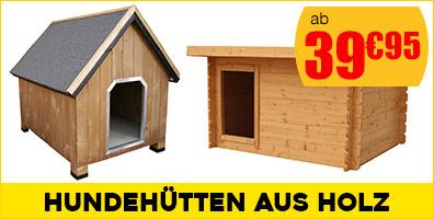 Hundehütten aus Holz